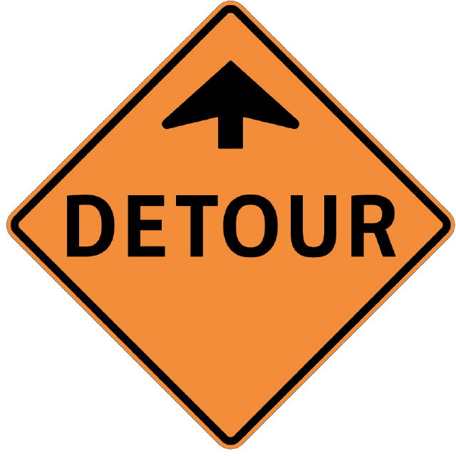 Where to find SIGN, DETOUR 30 X 30 in Vancouver / Surrey